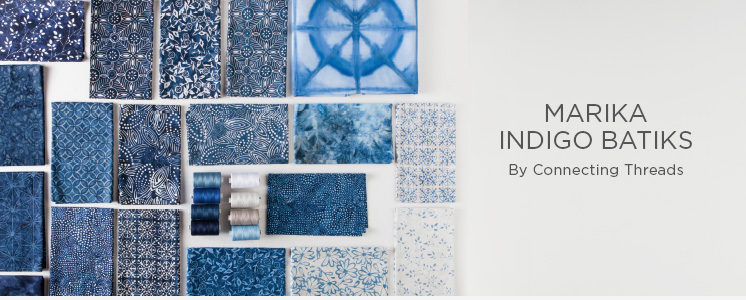 Marika Indigo Batiks Fabric Collection