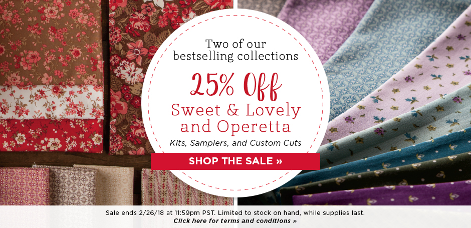 Homepage Rotator - Sweet & Lovely/Operetta Sale
