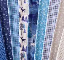 Glacier Peak Flannel Quilting Fabric