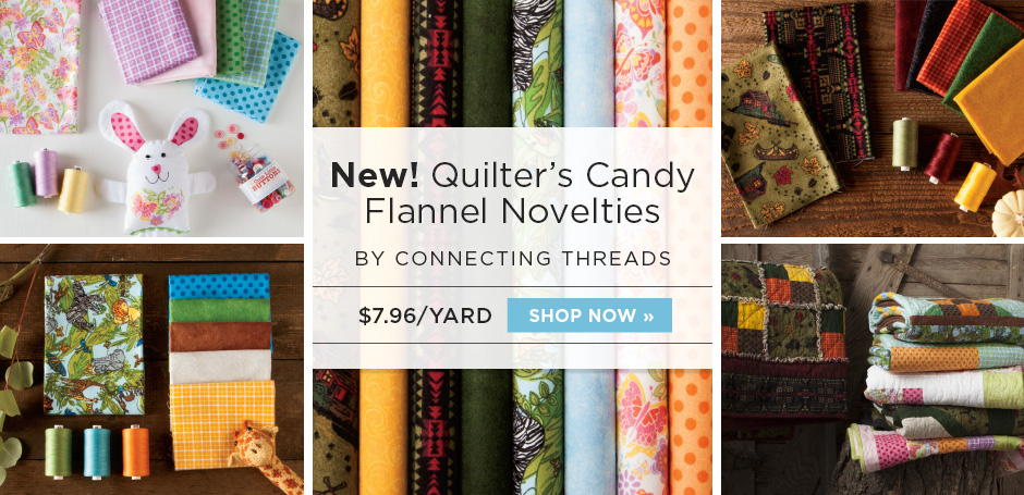 New Quilter's Candy Flannel Novelties