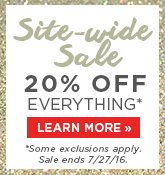 Site Wide 20% Off Sale