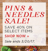 Pins & Needles Sale