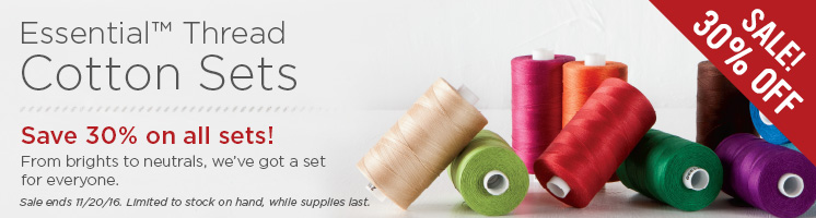 Essential Cotton Quilting Thread Sets