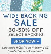 Wide Backing Sale