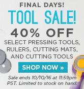 Final Days of Tool Sale