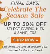 Last Days of the Celebrate the Season Sale