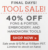 Final Days Tool Sale
