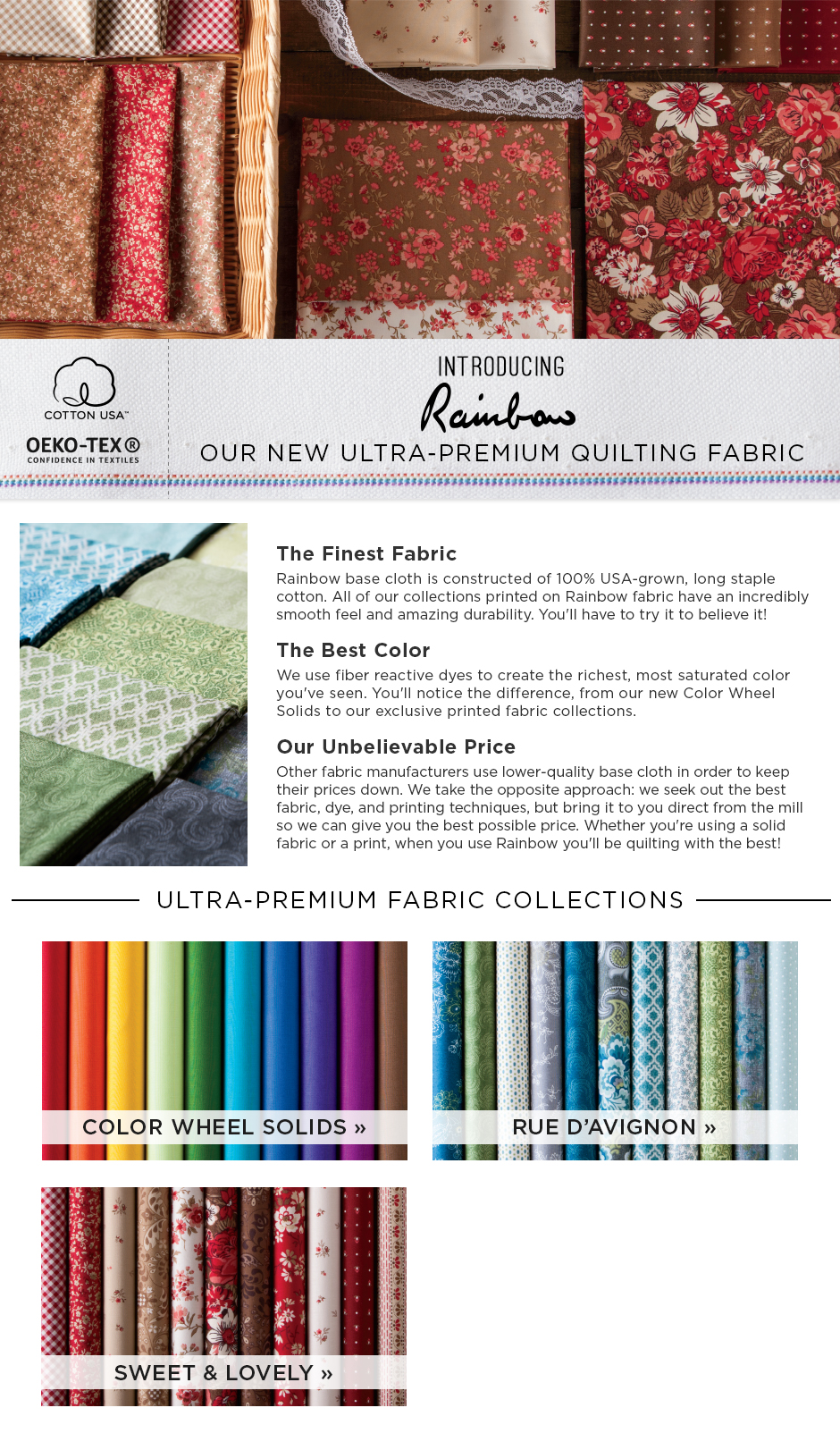 New Rainbow Fabric