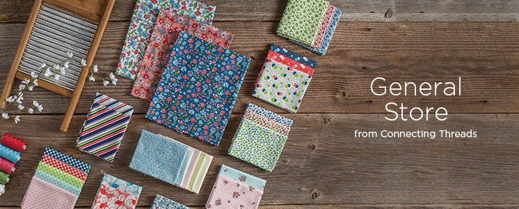General Store Connecting Threads Print Collection Precut Cotton Quilting Fabric Bundle Fat Quarter