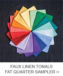 Faux Linen Tonals Fat Quarter Sampler