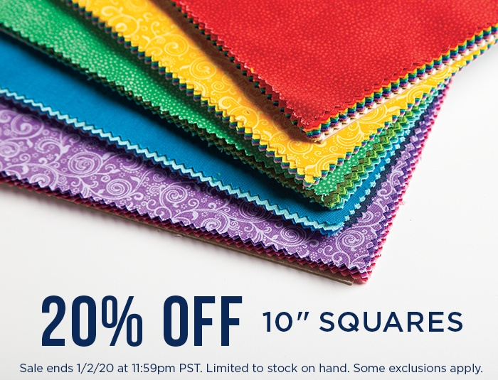 "Stack Sale - 20% Off 10"" Squares"