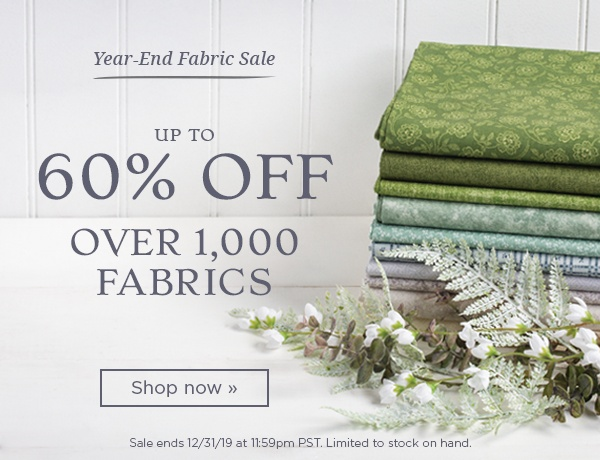 Year End Fabric Sale