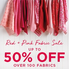Red + Pink Fabric Sale
