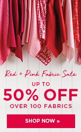 Red and Pink Fabric Sale