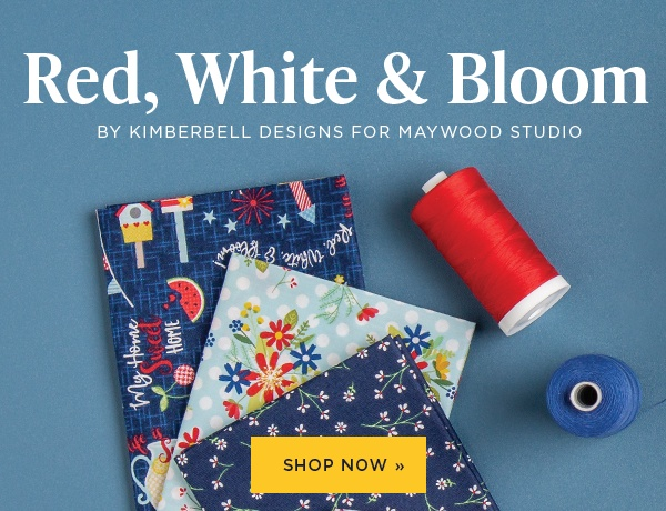 Red, White and Bloom by Kimberbell Designs for Maywood Studio