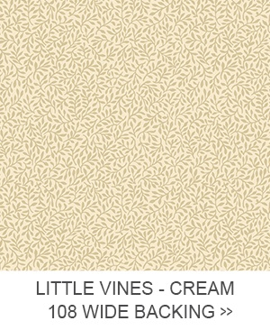Little Vines - Cream 108 inch Wide Backing