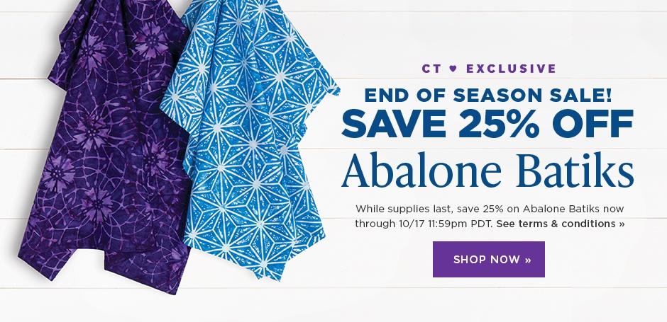 Abalone Batiks Sale