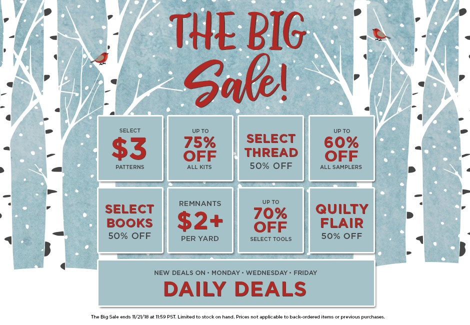 The Big Sale Home Page