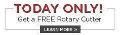 The Big Sale Today Only - Rotary Cutter