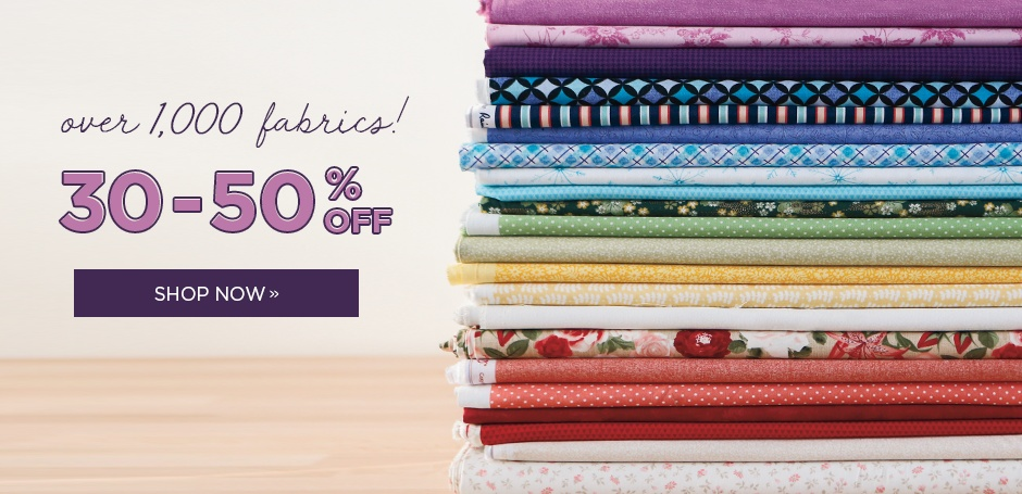 Year-End Fabric Sale