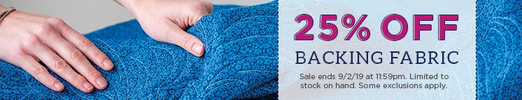 25% Off Backing Fabric