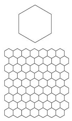 photograph relating to Free Printable English Paper Piecing Templates identify English Paper Piecing Hexagons Routine