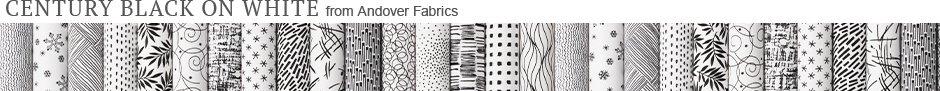 Century Black on White from Andover Fabrics
