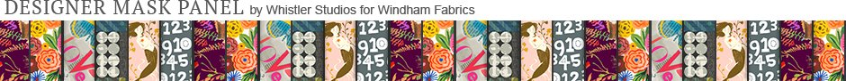 Designer Face Mask by Whistler Studios for Windham Fabrics