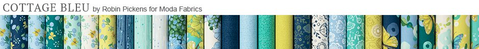 Cottage Bleu by Robin Pickens for Moda Fabrics