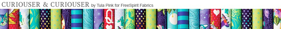 Curiouser & Curiouser byTula Pink for FreeSpirit Fabrics