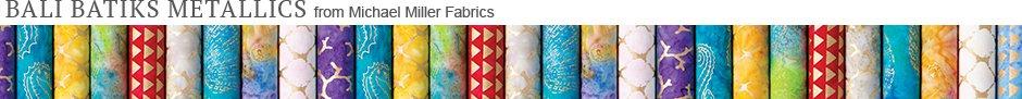 Bali Batiks Metallics from Michael Miller Fabrics