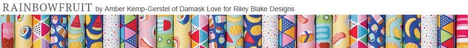 Rainbowfruit by Amber Kemp-Gerstel of Damask Love for Riley Blake Designs