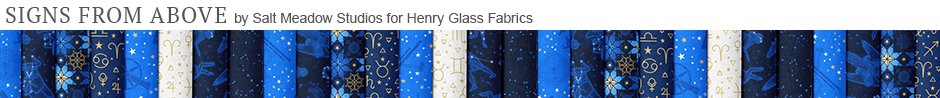 Signs from Above by Salt Meadow Studios for Henry Glass Fabrics