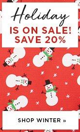 Holiday Fabric Sale