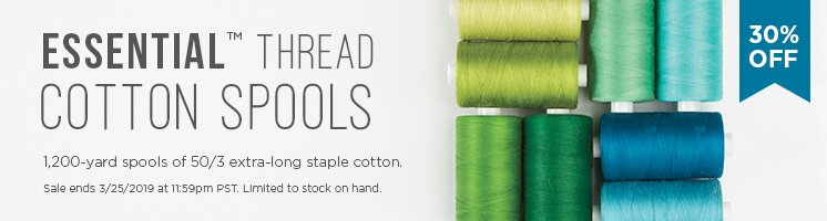 Essential Thread Cotton Spools Sale