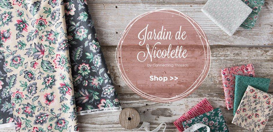 Jardin de Nicolette Fabric Collection
