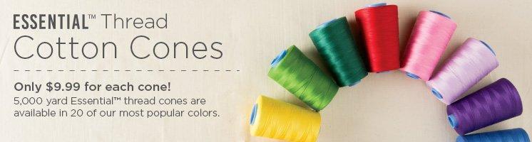 Essential Cotton Cone Quilting Thread