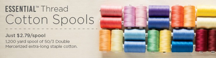 Essential Cotton Thread Spools