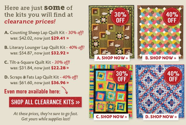 Great Kits at Clearance Prices