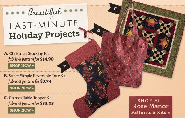 Beautiful Last Minute Holiday Projects