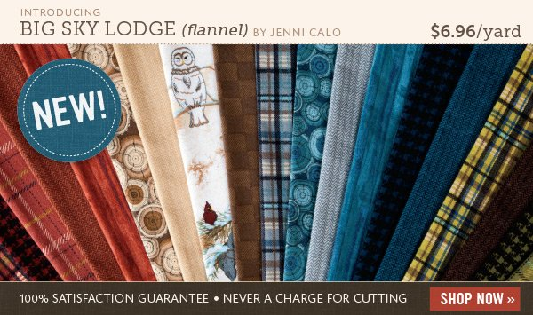Introducing Big Sky Lodge Flannel Fabric by Jenni Calo