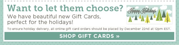Beautiful Gift Cards for the Holidays