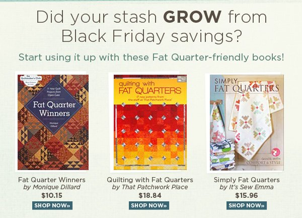 Fat Quarter Friendly Books