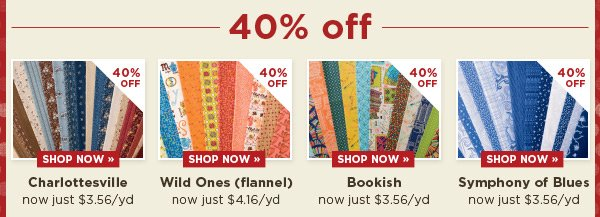 40% Off These Collections