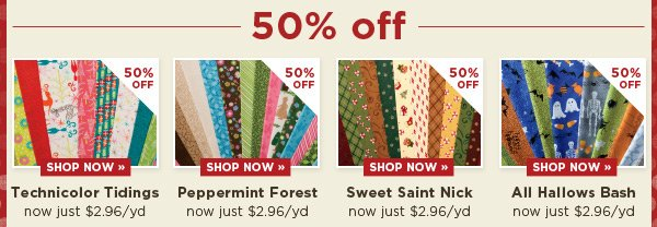 50% Off these collections