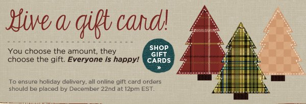 Give a Gift Card!