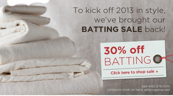30% off Batting