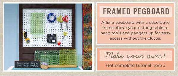 Framed Pegboard and Tutorial