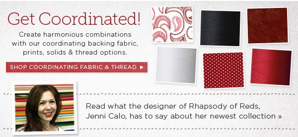 Coordinating Fabrics and Designer Comments
