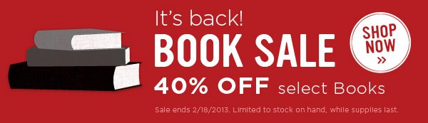 40% Off Select Books